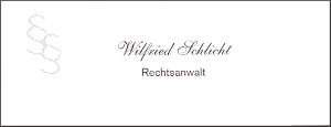 Rechtsanwalt Wilfried Schlicht