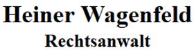 Rechtsanwalt Heiner Wagenfeld